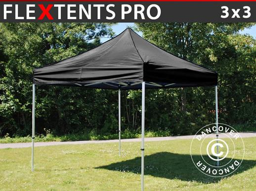 Vouwtent/Easy up tent FleXtents PRO 3x3m Zwart