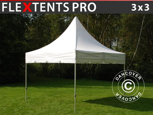 Pop Up Gazebo FleXtents PRO Peak Pagoda 3x3m White