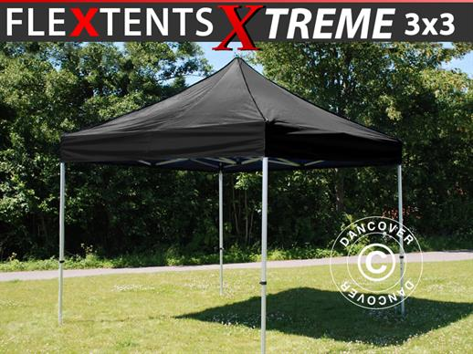 Foldetelt FleXtents Xtreme 3x3m Sort