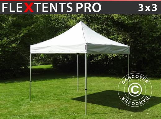 Vouwtent/Easy up tent FleXtents PRO 3x3m Zilver