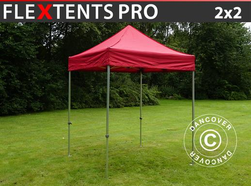 Vouwtent/Easy up tent FleXtents PRO 2x2m Rood