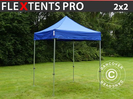 Vouwtent/Easy up tent FleXtents PRO 2x2m Blauw