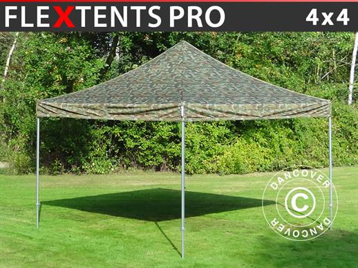 Vouwtent/Easy up tent FleXtents PRO 4x4m Camouflage/Militair