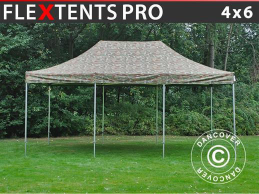 Vouwtent/Easy up tent FleXtents PRO 4x6m Camouflage/Militair