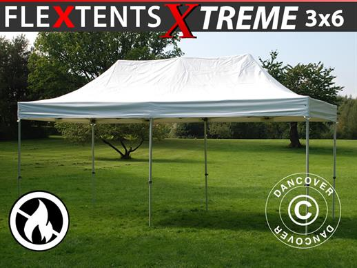 Faltzelt FleXtents Xtreme Heavy Duty 3x6m, Weiß