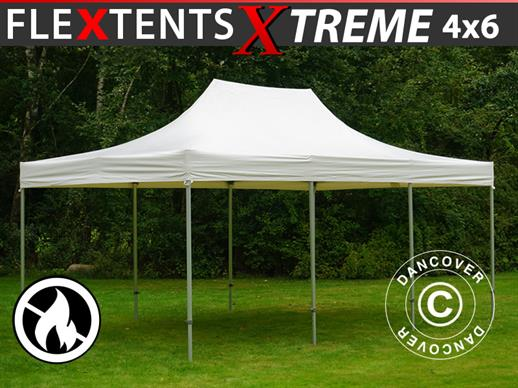 Vouwtent/Easy up tent FleXtents Xtreme 50 Heavy Duty 4x6m, Wit
