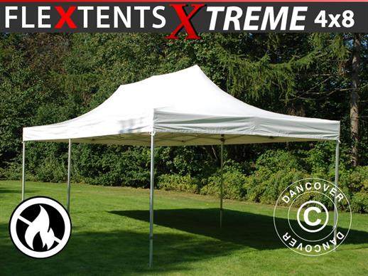 Faltzelt FleXtents Xtreme 50 Heavy Duty 4x8m, Weiß