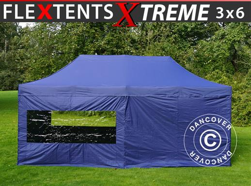 Pop up gazebo FleXtents Xtreme 50 3x6 m Dark blue, incl. 6 sidewalls