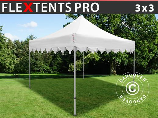 "Vouwtent/Easy up tent FleXtents PRO ""Morocco"" 3x3m Wit"