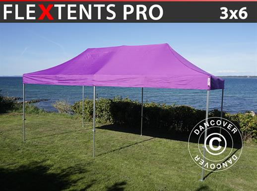 Vouwtent/Easy up tent FleXtents PRO 3x6m Paars