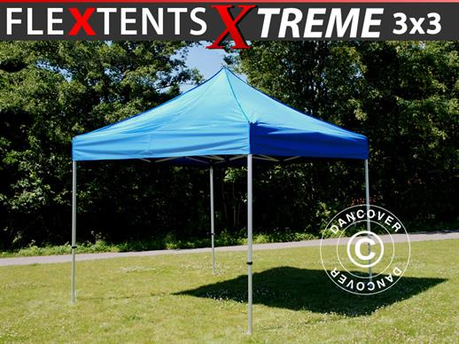 Vouwtent/Easy up tent FleXtents Xtreme 60 3x3m Blauw