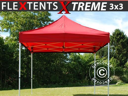 Vouwtent/Easy up tent FleXtents Xtreme 60 3x3m Rood