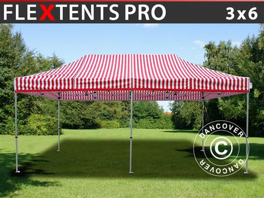 Vouwtent/Easy up tent FleXtents PRO 3x6m Gestreept