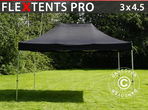 Pop up gazebo FleXtents PRO 3x4.5 m Black
