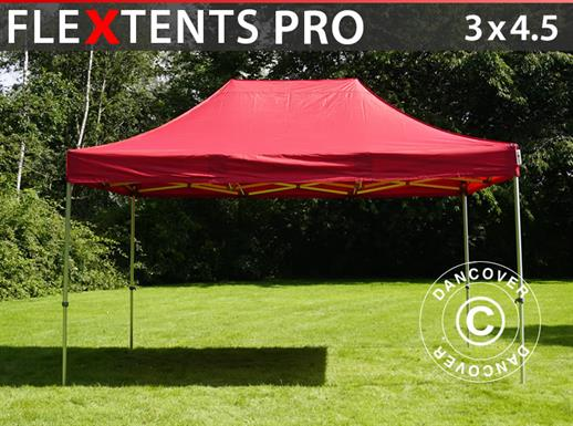 Vouwtent/Easy up tent FleXtents PRO 3x4,5m Rood