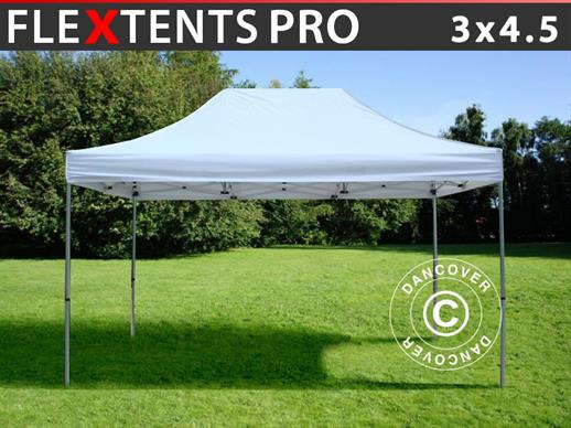 Vouwtent/Easy up tent FleXtents PRO 3x4,5m Wit