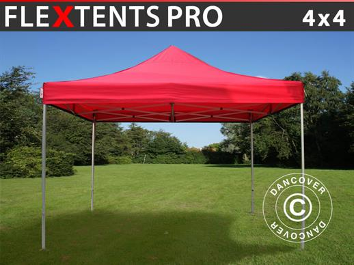 Pop up gazebo FleXtents PRO 4x4 m Red