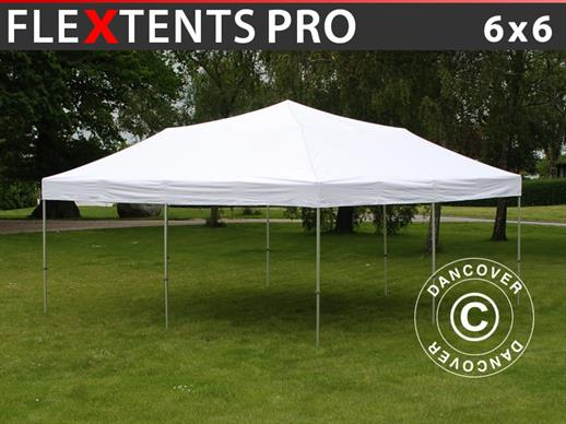 Pop up gazebo FleXtents PRO 6x6 m White