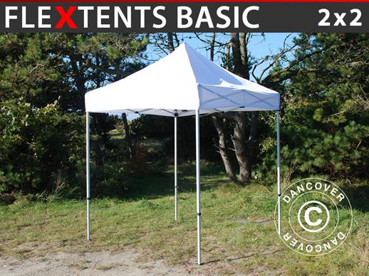 Vouwtent/Easy up tent FleXtents Basic, 2x2m Wit