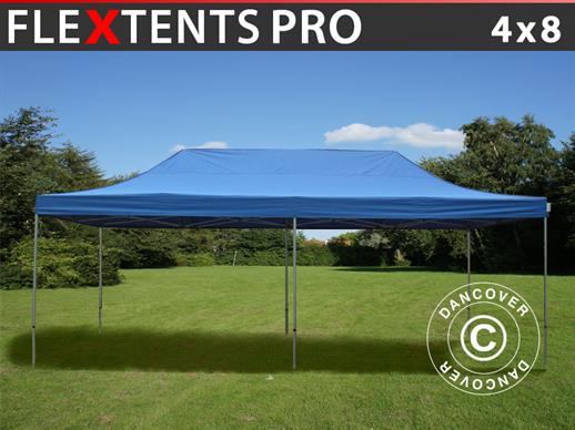 Vouwtent/Easy up tent FleXtents PRO 4x8m Blauw