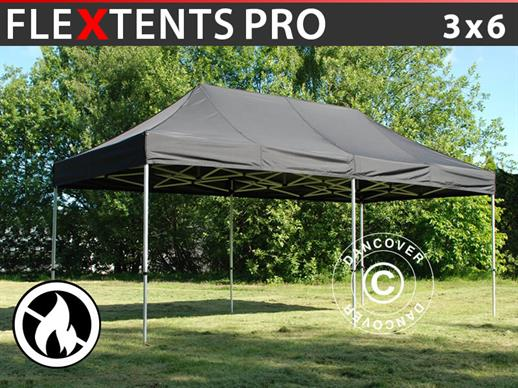 Quick-up telt FleXtents PRO 3x6m Svart, Flammehemmende