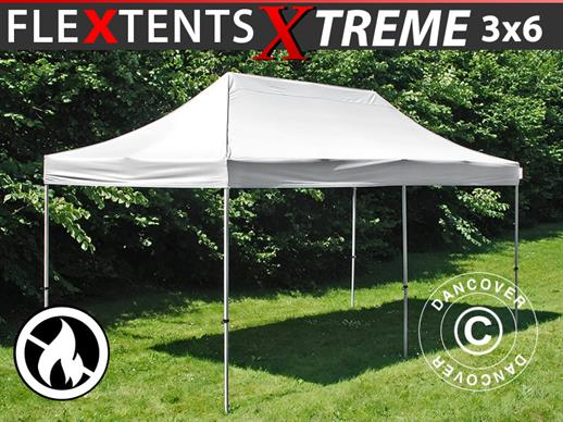 Pop up gazebo FleXtents Xtreme 3x6 m White, Flame retardant
