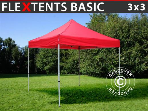 Faltzelt FleXtents Basic, 3x3m Rot