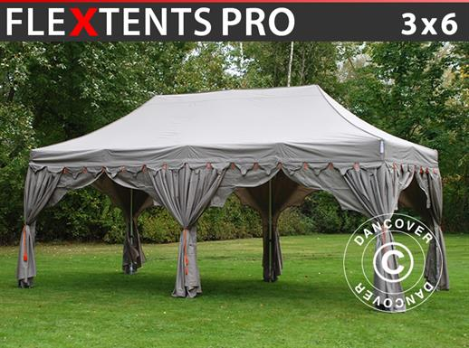 "Pop up gazebo FleXtents PRO ""Raj"" 3x6 m Latte/Orange"