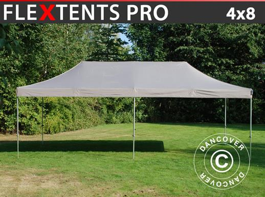 Carpa plegable FleXtents PRO 4x8m Latte