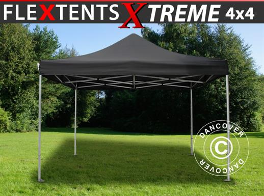 Quick-up telt FleXtents Xtreme 60 4x4m Svart
