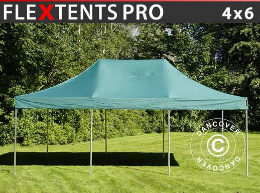 Carpa plegable FleXtents PRO 4x6m Verde