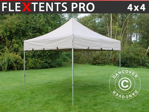 "Vouwtent/Easy up tent FleXtents PRO ""Peaked"" 4x4m Latte"