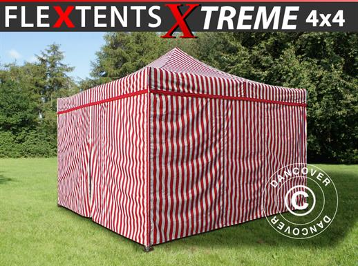 Pop up gazebo FleXtents Xtreme 50 4x4 m Striped incl. 4 sidewalls