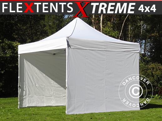 Pop up gazebo FleXtents Xtreme 4x4 m White, incl. 4 sidewalls