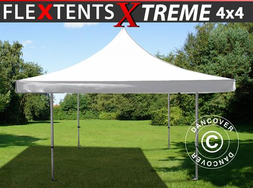Vouwtent/Easy up tent FleXtents Pagoda Xtreme 50 4x4m / (5x5m) Wit