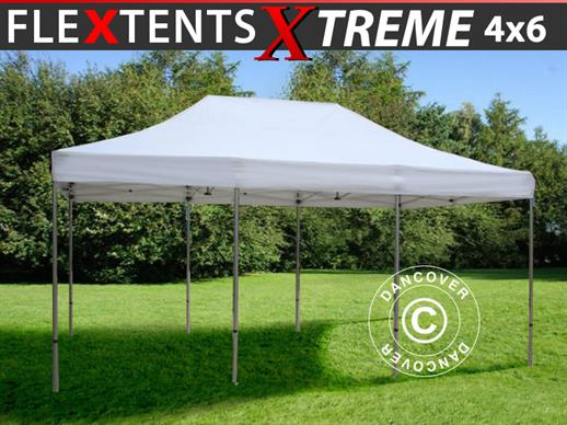 Vouwtent/Easy up tent FleXtents Xtreme 50 4x6m Wit