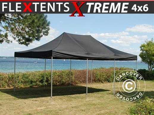 Pop up gazebo FleXtents Xtreme 4x6 m Black