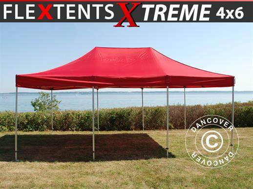 Carpa plegable FleXtents Xtreme 50 4x6m Rojo