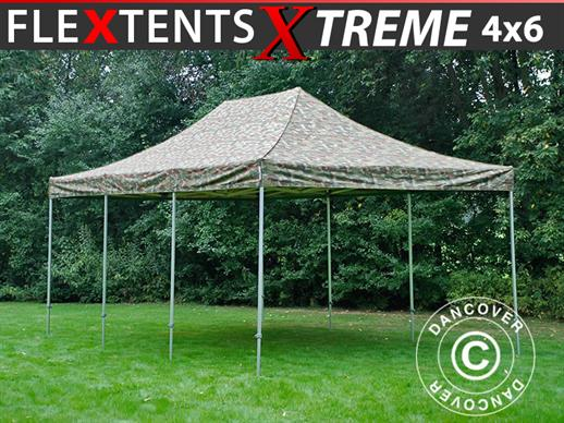 Pop up gazebo FleXtents Xtreme 4x6 m Camouflage/Military