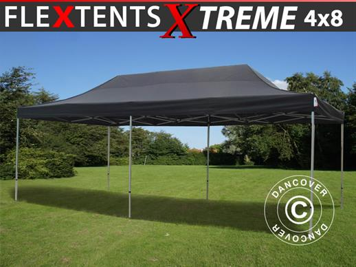 Vouwtent/Easy up tent FleXtents Xtreme 50 4x8m Zwart
