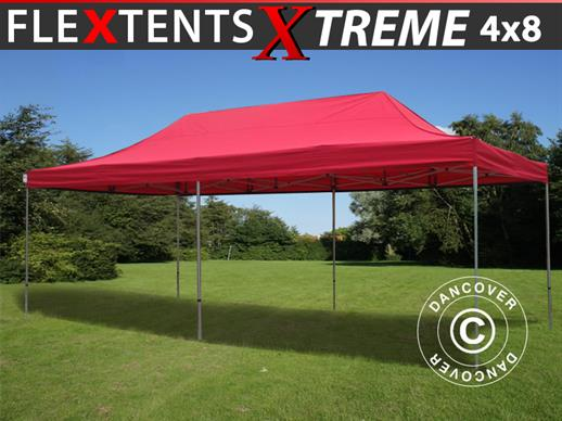 Vouwtent/Easy up tent FleXtents Xtreme 50 4x8m Rood