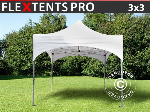 "Quick-up telt FleXtents PRO ""Arched"" 3x3m Hvit"