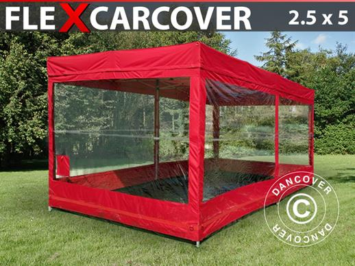 Vouwgarage, FleX Carcover, 2,5x5m, Rood
