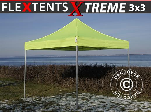 Vouwtent/Easy up tent FleXtents Xtreme 50 3x3m Neon geel/Groen