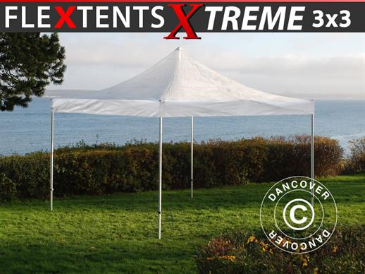 Faltzelt FleXtents Xtreme 3x3m Transparent