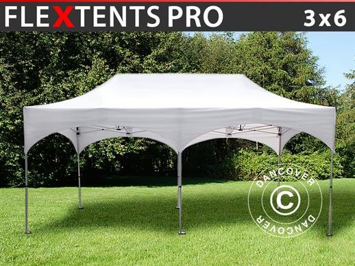 "Faltzelt FleXtents PRO ""Arched"" 3x6m Weiss"