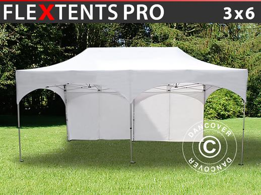 "Quick-up telt FleXtents PRO ""Arched"" 3x6m Hvit, inkl. 6 sider"
