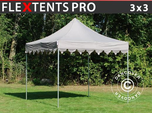 "Carpa plegable FleXtents PRO ""Morocco"" 3x3m Latte"
