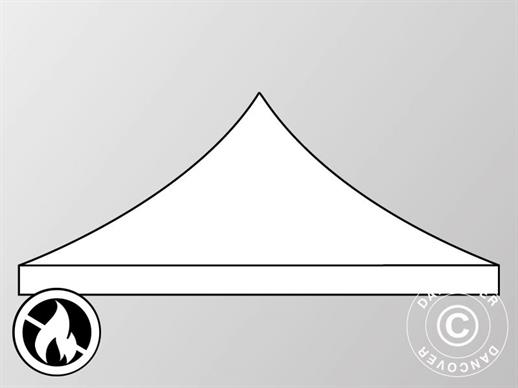 Roof cover for Pop up gazebo FleXtents PRO 4x4 m, White, Flame retardant