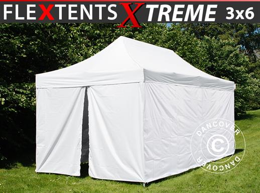 Pop up gazebo FleXtents® Xtreme 50, Medical & Emergency tent, 3x6 m, White, incl. 6 sidewalls